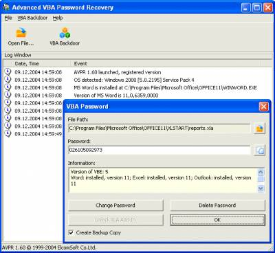 Advanced VBA Password Recovery v1.60 - Воcстановление паролей - Хакинг - Download - Security of Computer Systems & NetWorks
